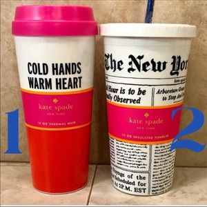 New with tags Kate spade insulated Tumbler